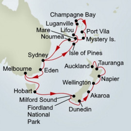 Pacific Treasures Australia and New Zealand Itinerary