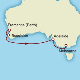 Fremantle to Melbourne World Sector  Itinerary