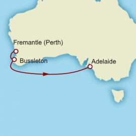 Fremantle to Adelaide World Sector Itinerary