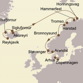Iceland and North Cape Quest Itinerary