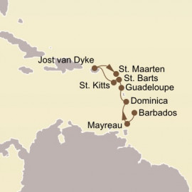 Holiday Caribbean Yacht Harbors Itinerary