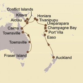 Landfalls of Captain Cook Itinerary