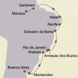 Brazil and The Amazon Itinerary