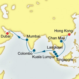 Hong Kong to Dubai World Sector Itinerary