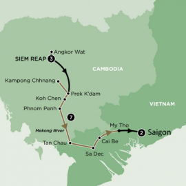 Siem Reap to Ho Chi Minh Luxury River Itinerary