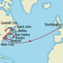 New England and Canadian Wonders Cunard Cruise