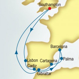 Spain, Portugal & Gibraltar P&O Cruises UK Cruise
