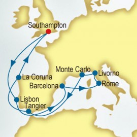 Italy, Spain & Morocco P&O Cruises UK Cruise