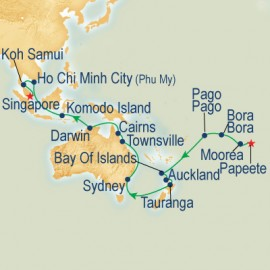 Australia, Asia & South Pacific Grand Adventure Cruise