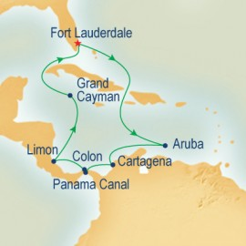 Roundtrip Panama Canal (Partial Transit) Cruise