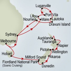 Pacific Treasures and New Zealand Cruise