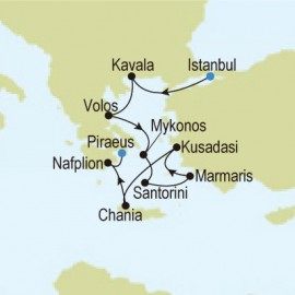Istanbul, Turkey to Piraeus (Athens), Greece Silversea Cruises Cruise