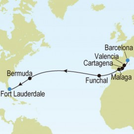 Barcelona, Spain to Fort Lauderdale, Florida, USA Silversea Cruises Cruise