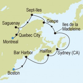 Boston to Montreal  Silversea Cruises Cruise