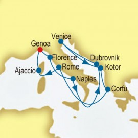 Italy, Greece & Corsica P&O Cruises UK Cruise
