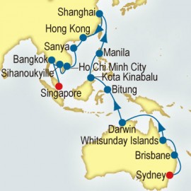 World Cruise: Sydney to Singapore Sector P&O Cruises UK Cruise