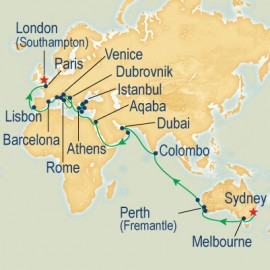 WC Sector Sydney to Southampton Cruise