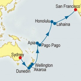 World Cruise: Sydney to San Francisco Sector P&O Cruises UK Cruise