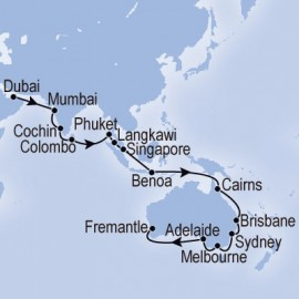Dubai to Fremantle MSC Cruises Cruise