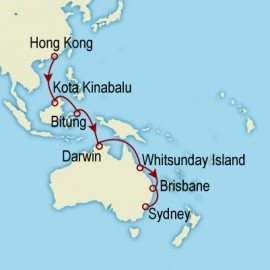 World Cruise: Hong Kong to Sydney Sector Cruise