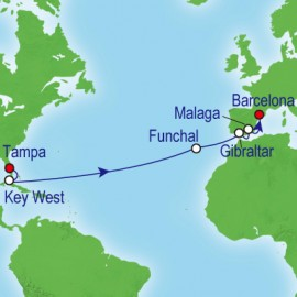 Ocean Voyage - South Florida To Spain Cruise