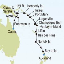 Cairns to Auckland Silversea Cruises Cruise