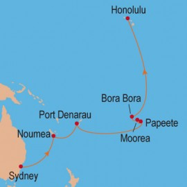 Sydney to Honolulu Cruise