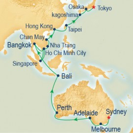 Asia and Australia Grand Adventure Cruise