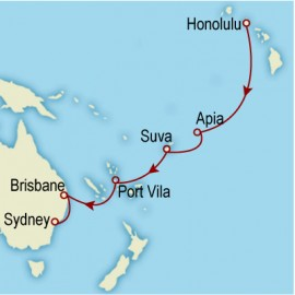 World Cruise: Honolulu to Sydney Cruise