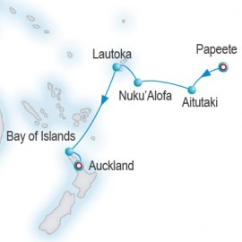 Isles Of The South Pacific Itinerary