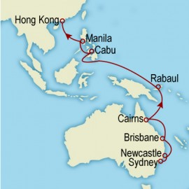 World Cruise Sydney to Hong Kong Sector Cruise