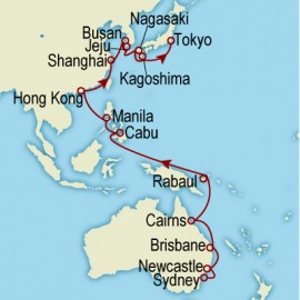 World Cruise Sydney to Tokyo Sector Cruise