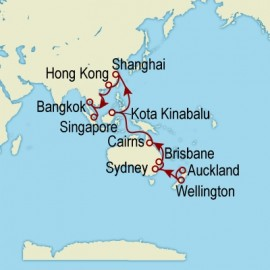 World Cruise: Auckland to Singapore Sector Cruise