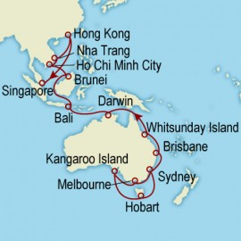 World Cruise Sydney to Singapore Sector Cruise
