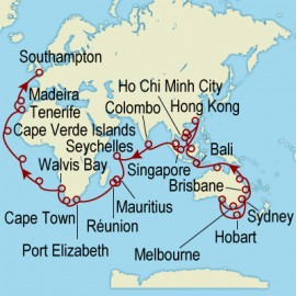 World Cruise Sydney to Southampton Sector Cruise