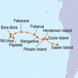 Legends of the South Pacific: Tahiti to Easter Island Linblad Expedition Cruises Cruise