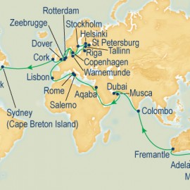 World Cruise Sydney to New York Sector Cruise