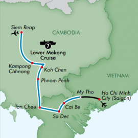 Siem Reap to Ho Chi Minh City Luxury River  Itinerary