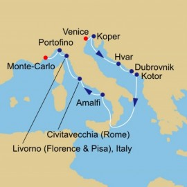 Adriatic and Med Treasures Voyage Itinerary