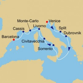 Gondolas and Rivieras Voyage Itinerary
