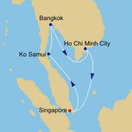 Thailand and Vietnam Voyage Itinerary