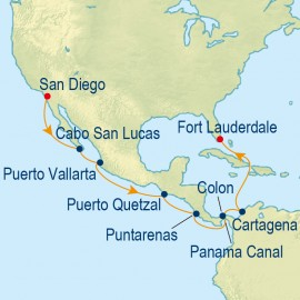 Eastbound Panama Canal Itinerary