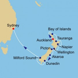 Australian and New Zealand Azamara Club Cruises Cruise