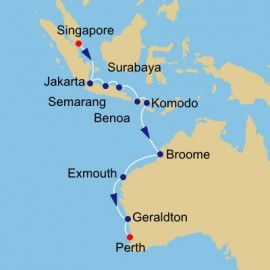 Java Sea and West Australia Itinerary