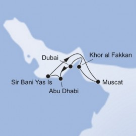 Dubai and Abu Dhabi and Sir Bani Yas