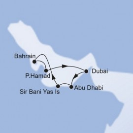 Dubai and Abu Dhabi and Sir Bani Yas MSC Cruises Cruise