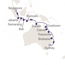 Singapore to Sydney World Sector Itinerary