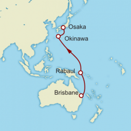 Brisbane to Kyoto World Sector Cunard Cruise