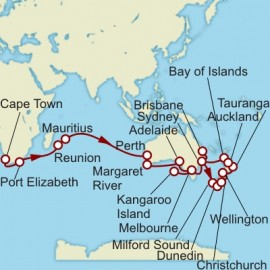 Cape Town to Brisbane World Sector Itinerary