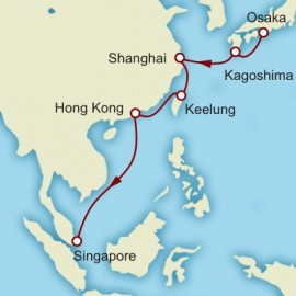Kyoto to Singapore World Sector Cunard Cruise